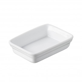 Mini plat rectangulaire 2 cl - Blanc - 7 x 5 x 2 cm