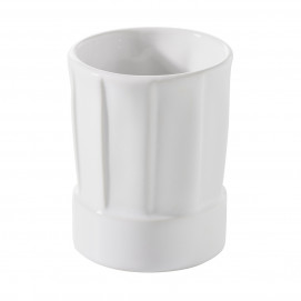 Mini toque 5 cl - Blanc - Diam. 4,5 cm H. 5,8 cm