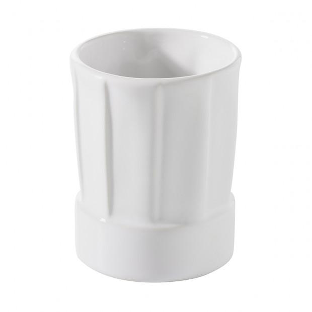 Mini toque 5 cl - Blanc - Diam. 4,5 cm H. 5,8 cm