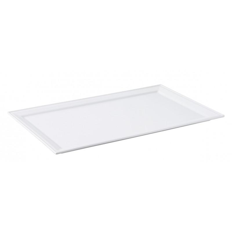 assiette rectangulaire en porcelaine blanche. Black Bedroom Furniture Sets. Home Design Ideas