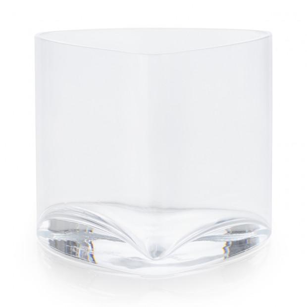 Triangular glass verrine
