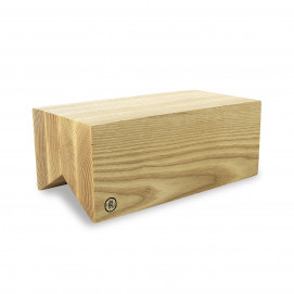 Bevelled cut wood display riser