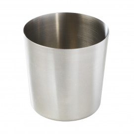 Chip pot - Stainless steel - Diam. 9 cm H. 9.5 cm
