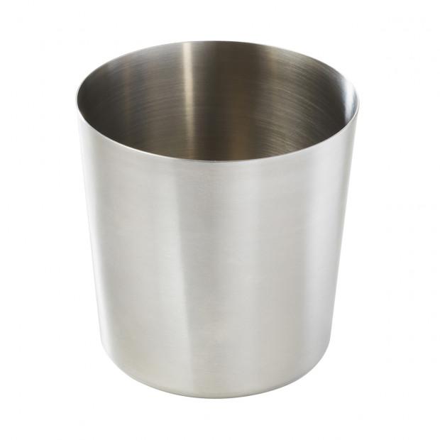 Pot pour frites - Inox - Diam. 8.5 cm H. 8,5 cm