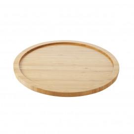 Round tray for Basalt 30 cm steak plate - Bamboo - Diam. 34 cm H. 1.7 cm