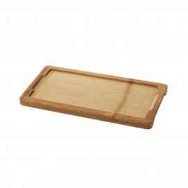Tray for rectangular 25 x 12 cm basalt dish - Bamboo - 28.5 x 15 x 1.7 cm