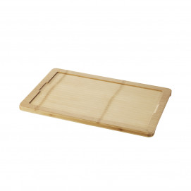 Tray for 40 x 25 cm plate Basalt - Bamboo - 46 x 30 x 1.7 cm