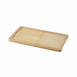Tray for 30 x 16 cm plate Basalt - Bamboo - 34 x 19.5 x 1.5 cm