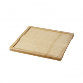Tray for square 25 cm basalt plate - Bamboo - 29.2 x 29.2 x 1.5 cm