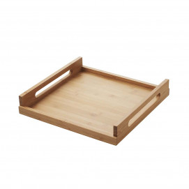 Square plate - Bamboo - 40 x 40 x 7 cm
