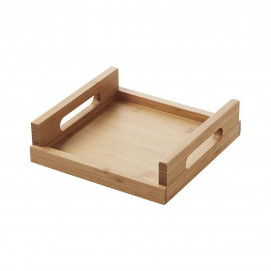 Square plate - Bamboo - 25 x 25 x 7 cm