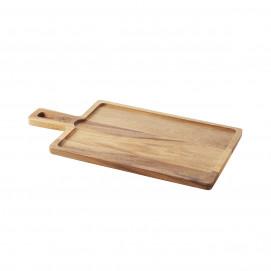 Board for 30 x 20 cm Basalt tray - Acacia - 43 x 23 x 1.5 cm