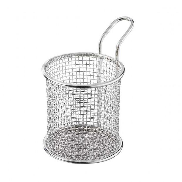 Round tapas basket 22 cl - Stainless steel - Diam. 8 cm H. 8.4 cm