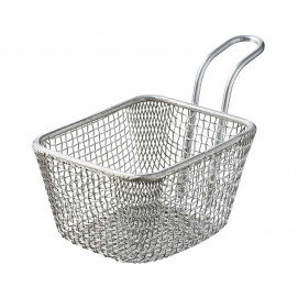 Chip basket 35 cl - Stainless steel - 10.5 x 9 x 9.5 cm
