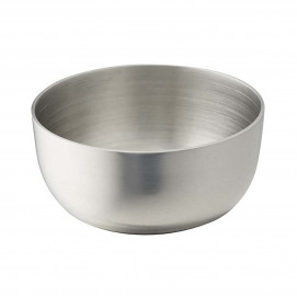 Small round bowl 5 cl - Stainless steel - Diam. 6 cm H. 3 cm