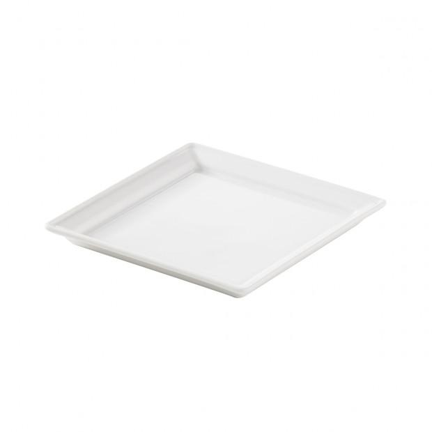 square small dish - white