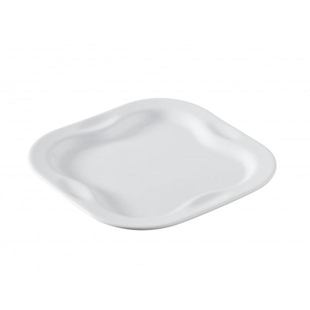 Plateau carré 2 duos - Blanc - 17 x 17 cm