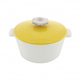 Round casserole dish 1.2 L stainless steel handle - Diam. 19 cm H. 12.5 cm - Oven and table