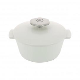 Cocotte ronde 80 cl avec poignée inox - Diam. 16,4 cm H. 10,7 cm - Four et table