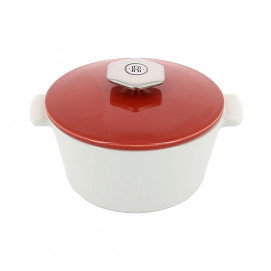 Round casserole dish 50 cl stainless steel handle - Diam. 13.6 cm H. 9,2 cm - Oven and table