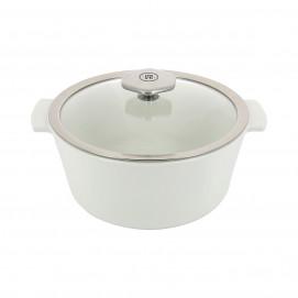 Cocotte ronde 2,4 L avec poignée inox - Diam. 22 cm H. 14 cm - Maintien en température