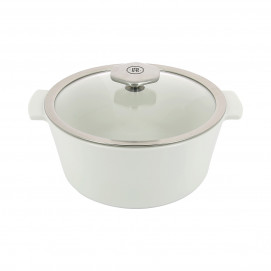 Round casserole dish 2.4 L stainless steel handle - Diam. 22 cm H. 14 cm - Maintains desired temperature