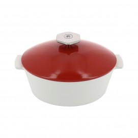 Oval casserole dish 1.8 L stainless steel handle - 24 x 19.5 x 14 cm - Maintains desired temperature