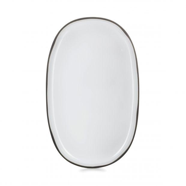 Assiette ovale Caractère 35 cm