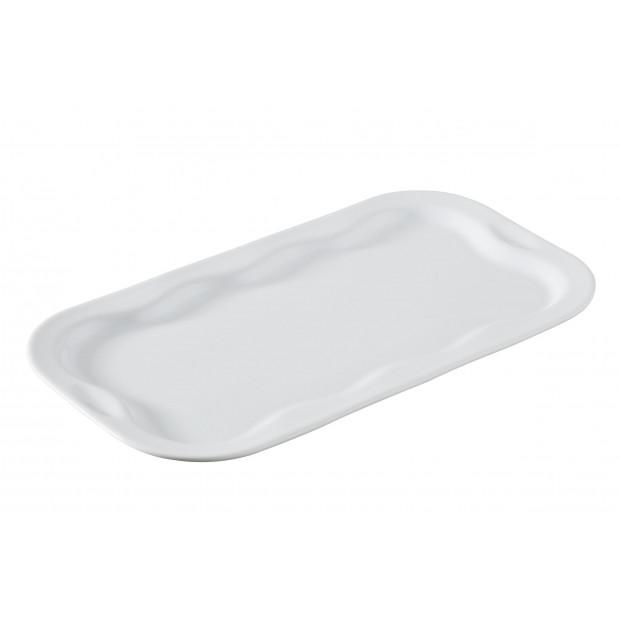 Plateau rectangulaire 4 duos - Blanc - 30 x 17 cm