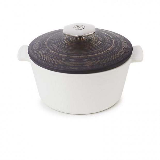 Round casserole dish 1.2 L stainless steel handle - Diam. 19 cm H. 12.5 cm - Maintains desired temperature