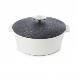 Round casserole dish 3.4 L stainless steel handle - Diam. 26 cm H. 14.5 cm - Maintains desired temperature