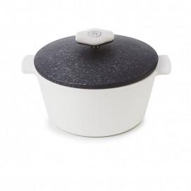 Cocotte ronde 1,2 L avec poignée inox - Diam. 19 cm H. 12,5 cm - Four et table