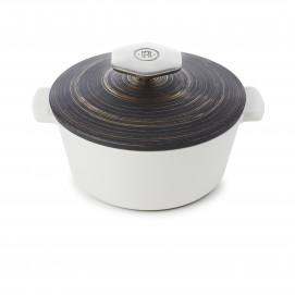 Repose cuillère en porcelaine - Noir brut - 19,7 x 10,4 x 3,8 cm