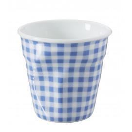 Gobelet Espresso 8 cl - Décor Vichy - Diam. 6,5 cm H. 6 cm