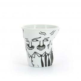 """Gobelet Cappuccino 18 cl - Décor """"Début de journée"""" - Diam. 8,5 cm H. 8,5 cm"""