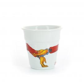 """Gobelet Espresso 8 cl - Décor """"gav 2000"""" - Diam. 6,5 cm H. 6 cm"""