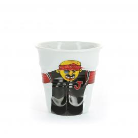 """Gobelet Cappuccino 18 cl - Décor """"gav 2000"""" - Diam. 8,5 cm H. 8,5 cm"""