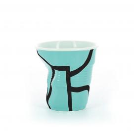 """Gobelet Espresso 8 cl - Décor """"THTF All over"""" - Diam. 6,5 cm H. 6 cm"""