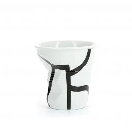 "Gobelet Cappuccino 18 cl - Décor ""Monochrome"" - Diam. 8,5 cm H. 8,5 cm"