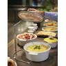 Round shallow casserole dish 3.6 L stainless steel handle - Diam. 28 cm H. 13.5 cm - Maintains desired temperature