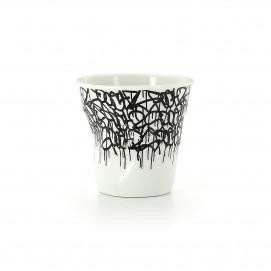 """Gobelet Espresso 8 cl - Décor """"début de journée"""" - Diam. 6,5 cm H. 6 cm"""