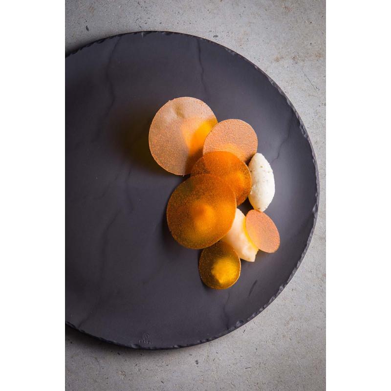 Ceramic Round Plate Matt Slate Style